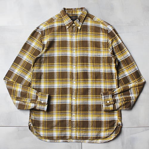 BEAMS PLUS flannel cotton check shirt(made in Japan)